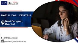 Rad u call centru | Oglasi za posao, Novi Beograd