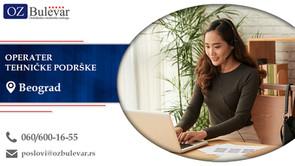 Operater tehničke podrške | Oglasi za posao, Beograd