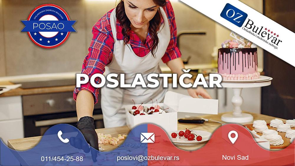 Omladinska zadruga Bulevar, Posao Novi Sad, Poslastičar