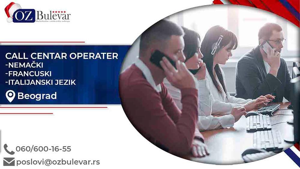 Omladinska zadruga Bulevar; posao u Beogradu, Call centar operater , poslovi za nezaposlena lica; Oglasi za posao call centar operater