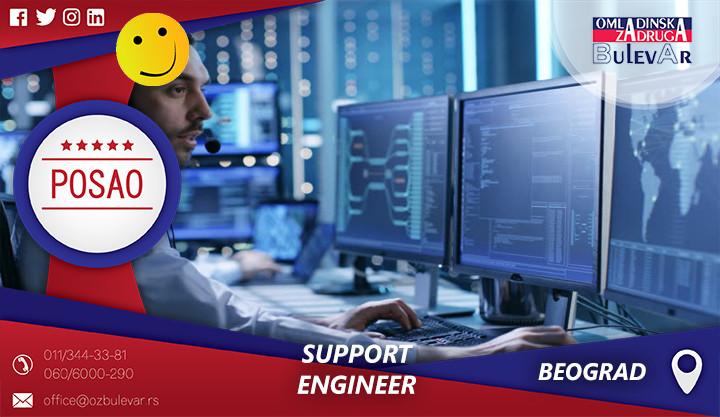 Omladinska zadruga Bulevar, Beograd - Support Engineer, Studentska zadruga