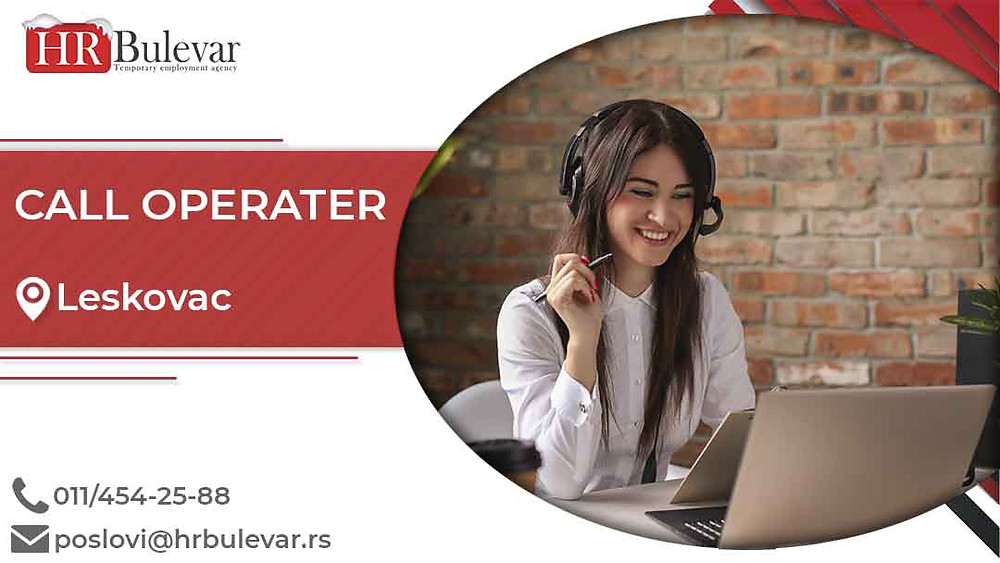 HR Bulevar, Oglasi za posao, Call operater, Leskovac,  Srbija