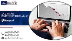 Analitičar investicionih podataka | Oglasi za posao, Beograd
