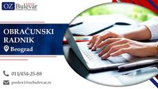 Obračunski radnik | Oglasi za posao, Beograd