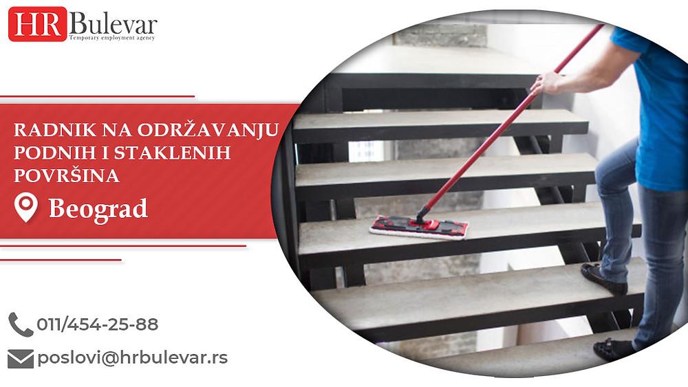HR Bulevar, Radnik na održavanju podnih i staklenih površina, Poslovi, Oglasi za posao, Beograd, Srbija