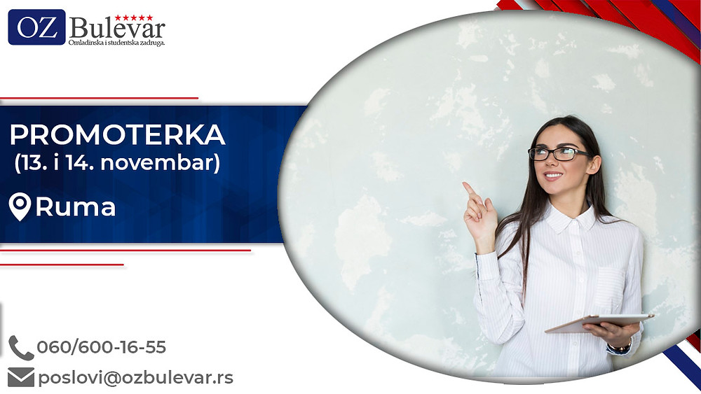Omladinska i studentska zadruga Bulevar; Oglasi za posao, Beograd; Honorarni i studentski poslovi; Promocije, promoteri