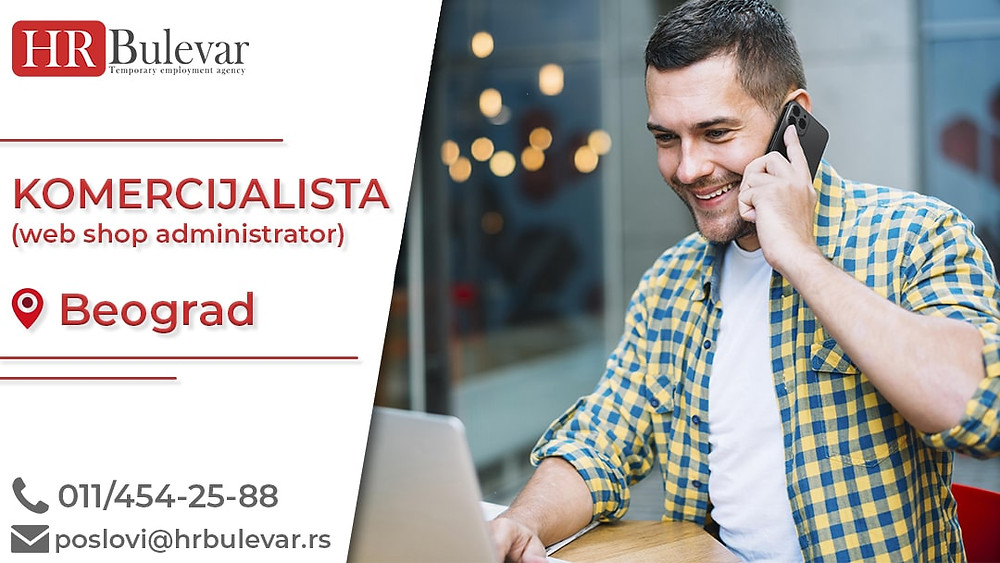 HR Bulevar, Oglasi za posao, Komercijalista, Vozač B kategorije, Beograd