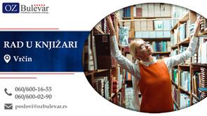 Rad u knjižari | Oglasi za posao, Vrčin