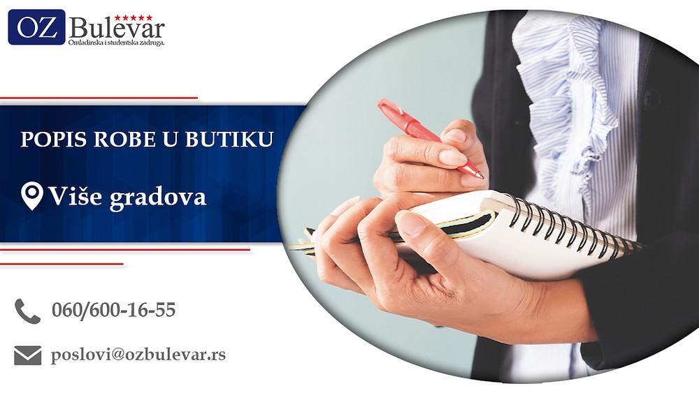 Omladinska zadruga Bulevar; Posao u Beogradu; Popis robe u butiku