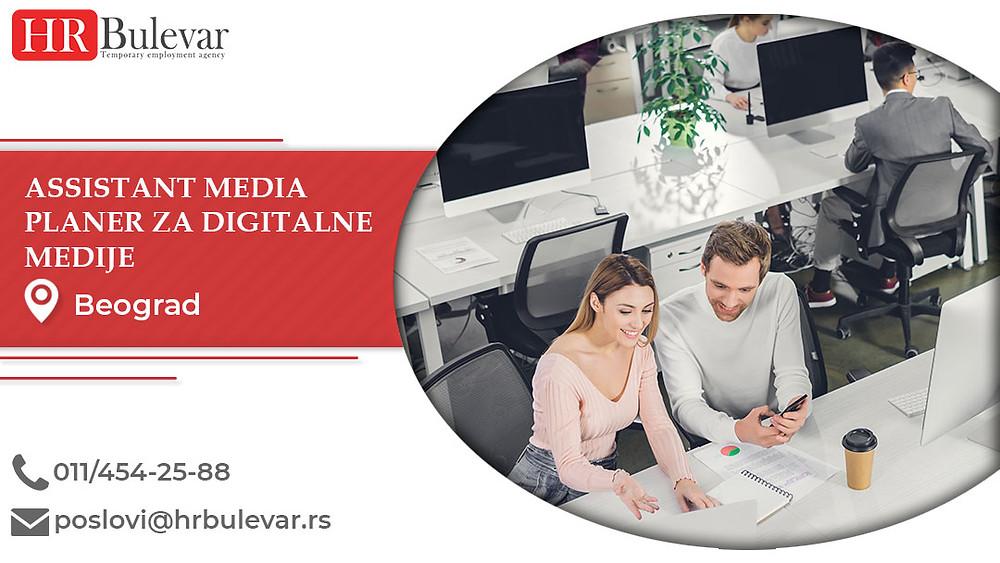 HR Bulevar, Beograd, Poslovi, Assistant media planer za digitalne medije, Oglasi za posao, Beograd, Srbija