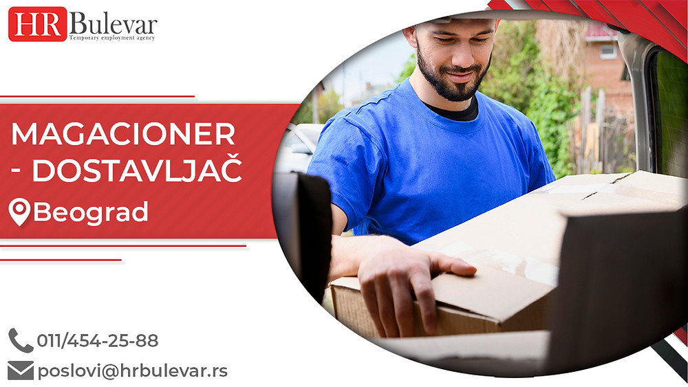 HR Bulevar, Agencija za zapošljavanje; Oglasi za posao, Vozač, Magacioner dostavljač,Beograd