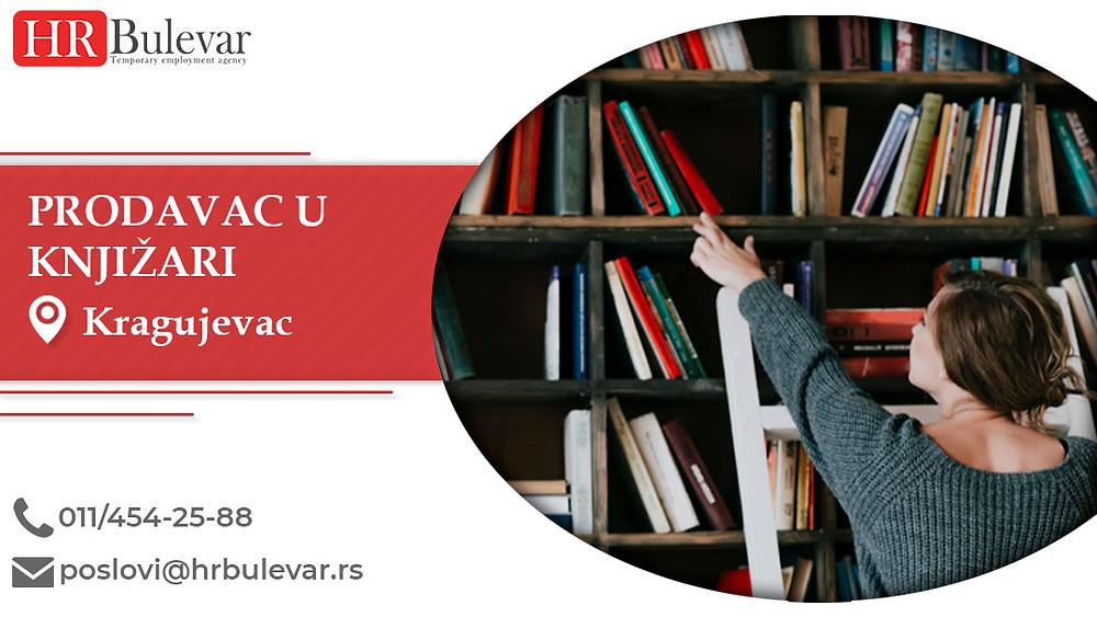 HR Bulevar, Prodavac u knjižari , Poslovi, Oglasi za posao, Kragujevac, Srbija