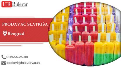 Prodavac slatkiša | Oglasi za posao, Beograd