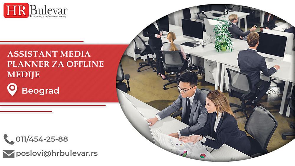 HR Bulevar, Beograd, Poslovi, Assistant media planner za offline medije, Oglasi za posao, Beograd, Srbija
