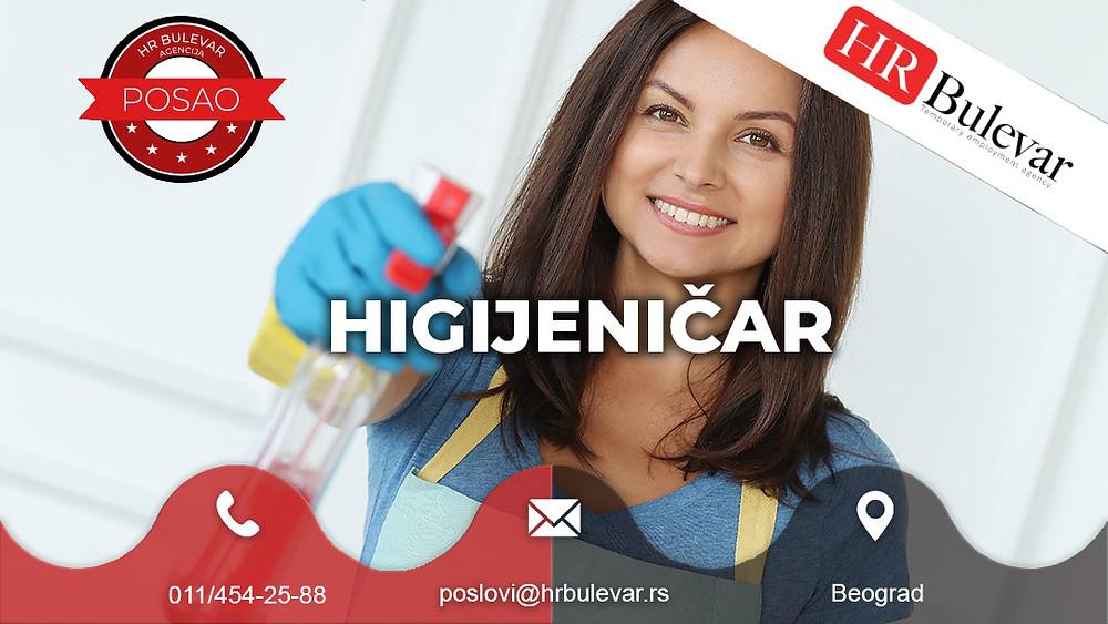 HR Bulevar, Agencija za zapošljavanje; Oglasi za posao, Beograd, Higijeničar