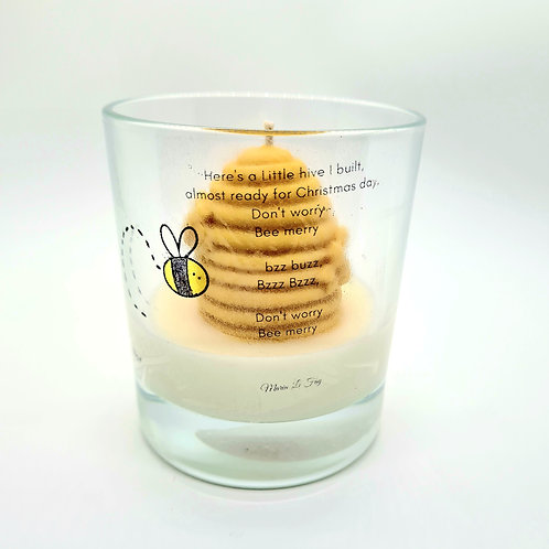 Bee Merry, Golden honey and milk soy candle