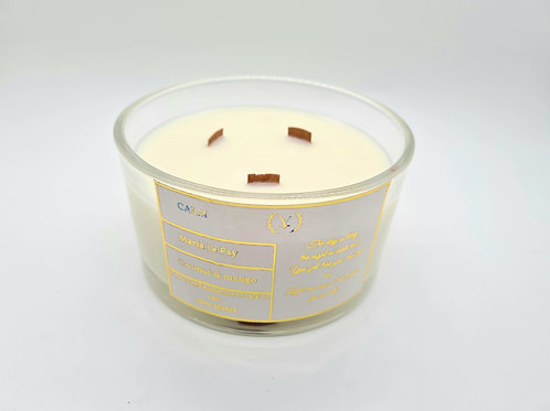 CALM Charity 3 wood wick 50cl Coconut & Mango Candle