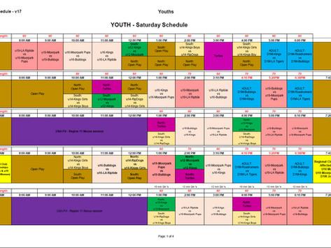 Updated Schedule (now on version # 17)