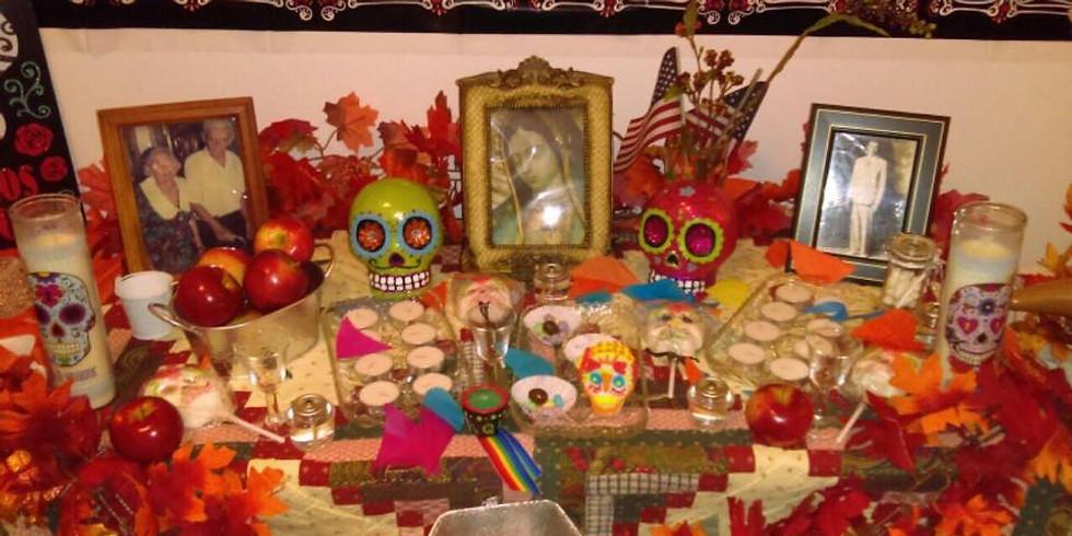 Decoration of the Día de los Muertos Altar