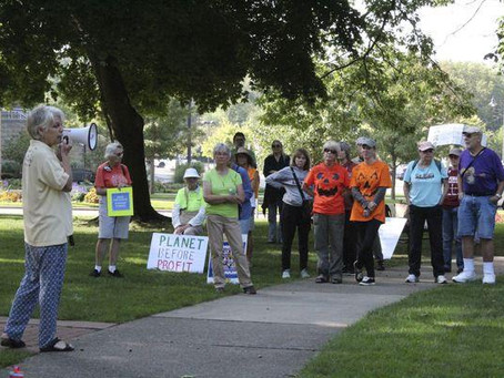 Tri-Cities Climate Strike draws crowd calling for action
