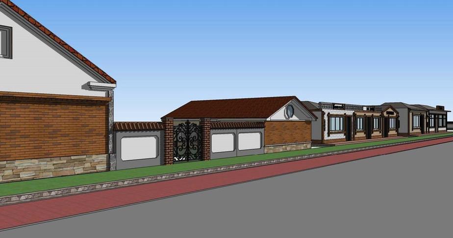 阿尔山三镇立面改造建筑设计