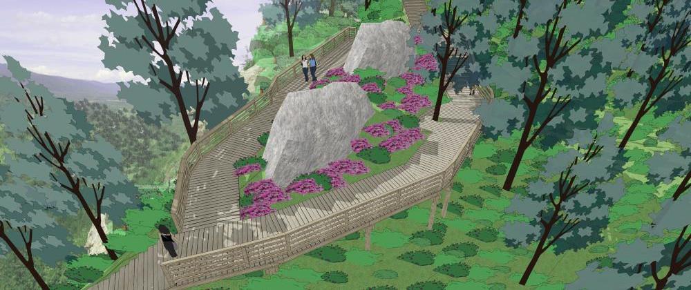 嘎仙洞森林徒步道施工图设计