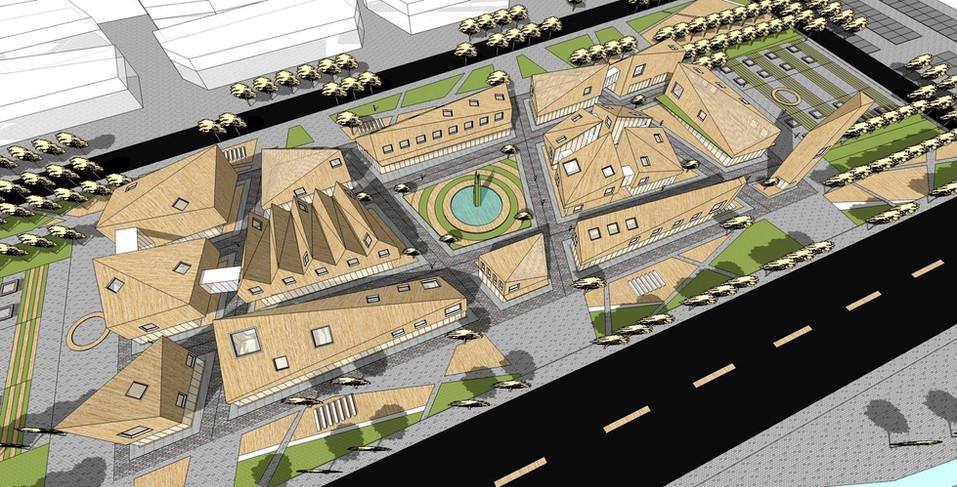 白浪镇文化中心建筑设计概念方案