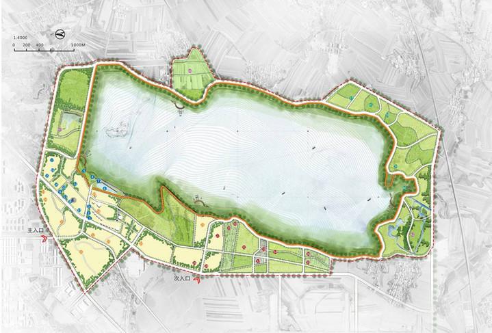 卡伦湖度假区总体规划概念方案