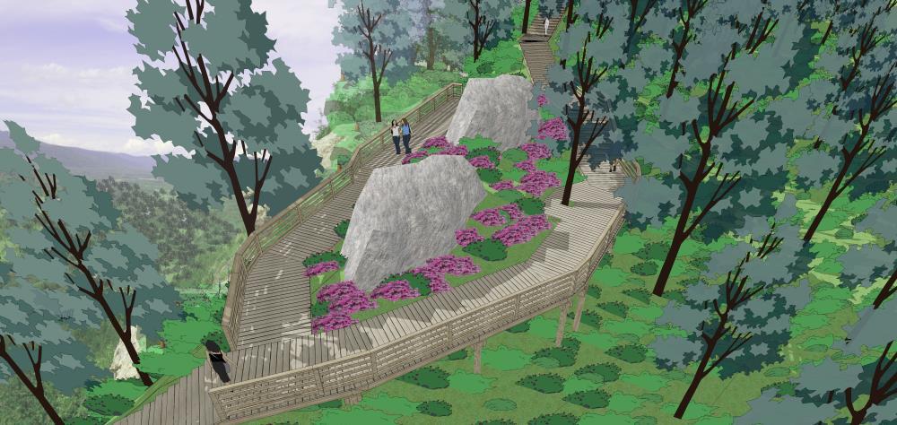 嘎仙洞国家森林公园徒步道设计