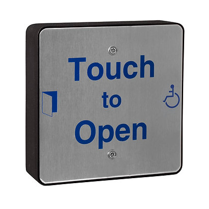 SQSOPEN, hardwired stainless steel push pad