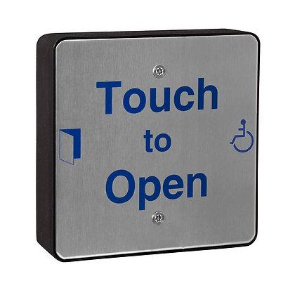 SQSTXOPEN, square stainless steel push pad, disabled door push pad