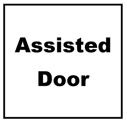Assisted Door Sticker