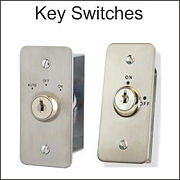 key switches, momentay keyswitch, on/off keyswitch, automatic door key switch