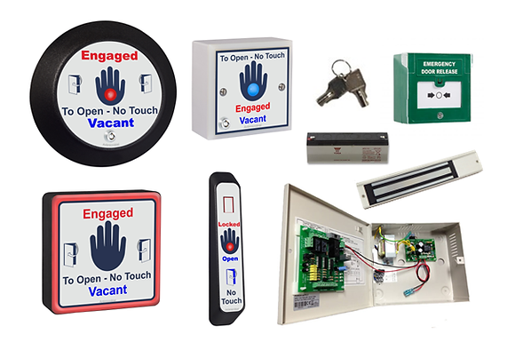 WCKIT - HAND   - Disabled Persons Toilet Door Kit with Hand Sensors