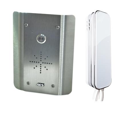 AES SLIM Stainless Wired Audio Intercom