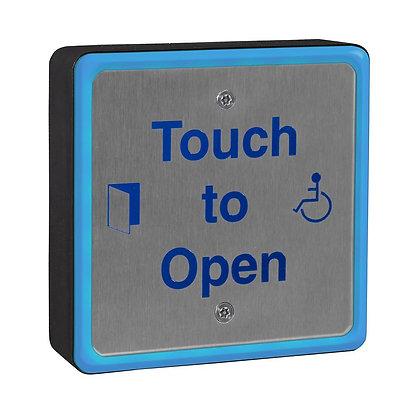 SQSIOPEN, square stainless illuminated push pad