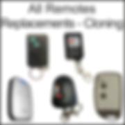 cloning remote controls, universal remote controls, garage remote controls, 433MHZ & 868MHz controls