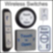 wireless touch switches/sensors, touch to open, antibacterial door sensors, stainless steel door sensors, copper door sensors,