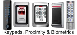 Keypads, proximity, biometric,