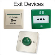 Exit devices, green dome button, exit switch, door release switch, break glass, resettable break glass, door exit switch