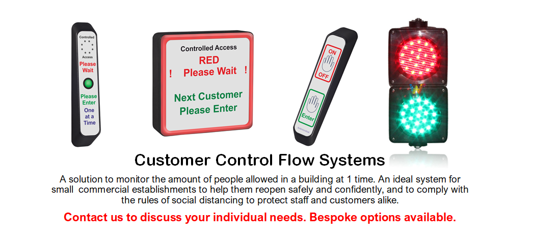 Customer Flow Systems, Traffic Light Door Entry, In Out System, Red light Green light