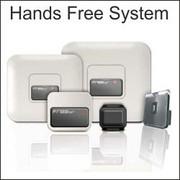 hands free door opener, wireless door opener, non touch door opener,  jcm technologies