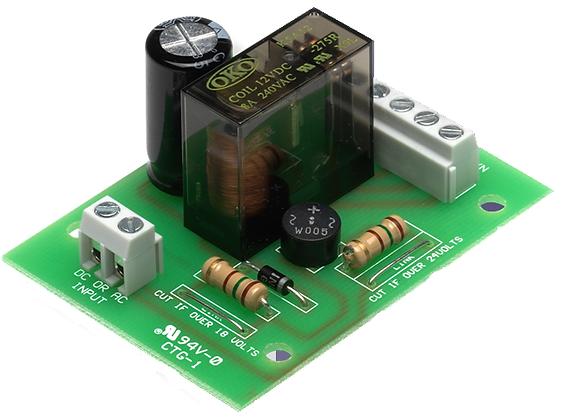 DBR200, double pole relay, ac/dc relay board