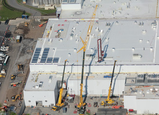 SETTING A 50 FT TALL STACKING ASSEMBLY AT FAGE