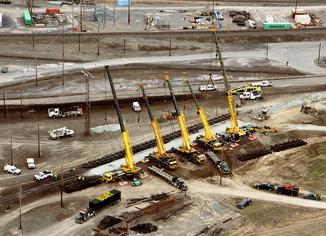 Aerial View of BURT Crane & Rigging
