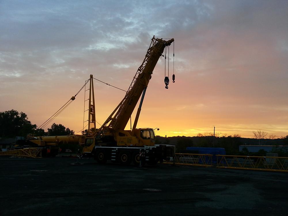 tonner's lifting job burt crane