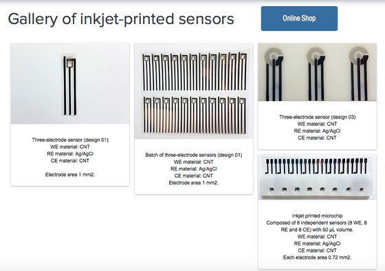 Check out our new gallery with inkjet printed sensors