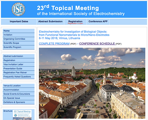23rd topical meeting of the international society of electrochemistry for investigation of biological objects from functional nanomaterials to micronano electrodes 8 11 may 2018 vilnius lithuania stopboris Images