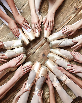 Ballerinas Sitting in a Circle