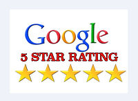 Hunt's Property Managment's five star rating on google.